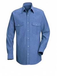 Camisa Social Mascilina com Bolso e Lapela